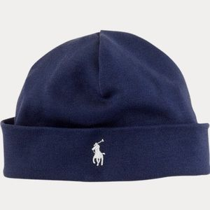 Navy Blue Ralph Lauren Baby Hat